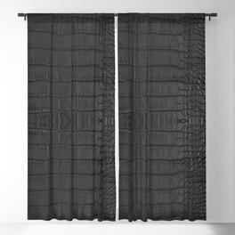 Alligator Black Leather Blackout Curtain
