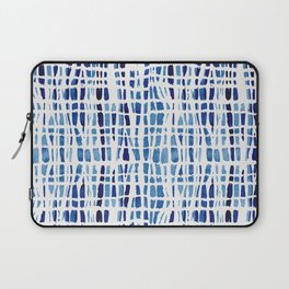 Shibori Braid Vivid Indigo Blue and White Laptop Sleeve