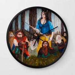 Snow-White and the Seven Dwarves Wall Clock
