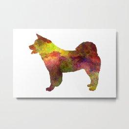 American Akita Dog in watercolor Metal Print