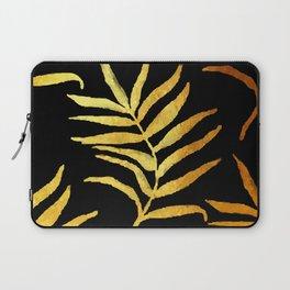 Black and gold leaf pattern V2 #society6 Laptop Sleeve