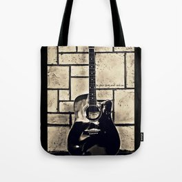 Be Your Song and Rock On in Black Tote Bag