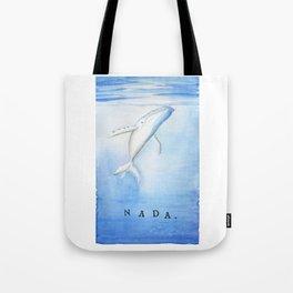 Nada - White Humpback Whale Tote Bag