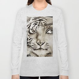 Tiger or woman Long Sleeve T-shirt