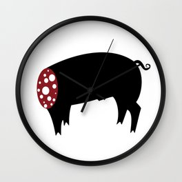 Sausage Pig Wall Clock