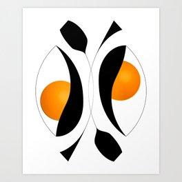Abstract Art - Intertwined Art Print