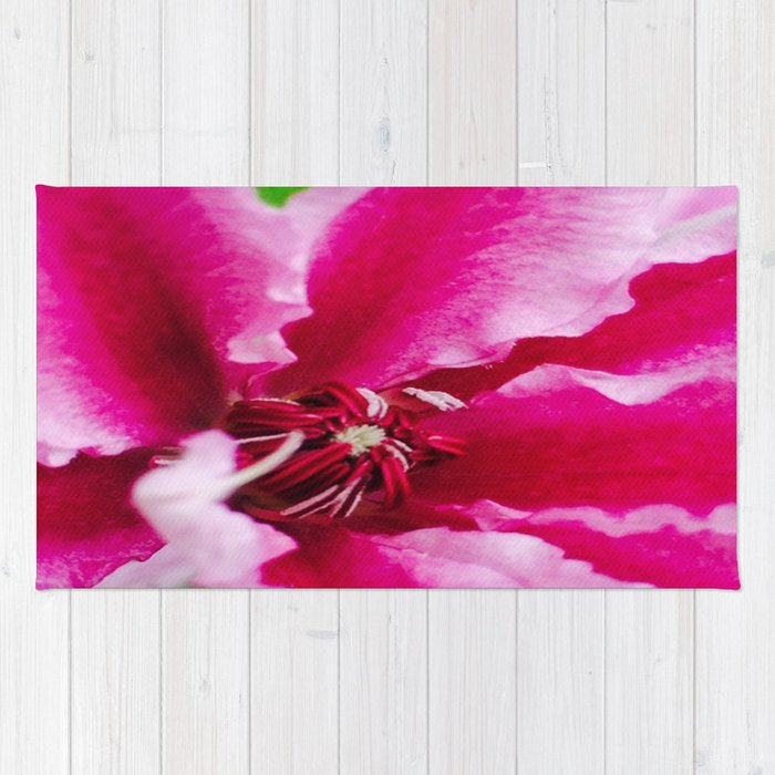 Pink Flower Rug By Cgaff Society6