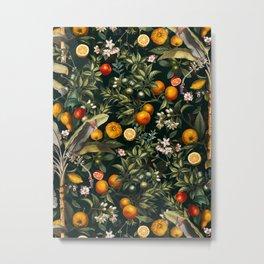 Vintage Fruit Pattern XXII Metal Print