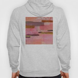 Abstract Mixed Media: Pink & Coral With Glitter Hoody