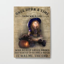 Black Hat Black Hat Girl Loved Books And Wanted To Become A Witch Metal Print