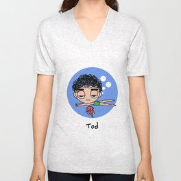 Tod Swimming  Unisex V-Neck