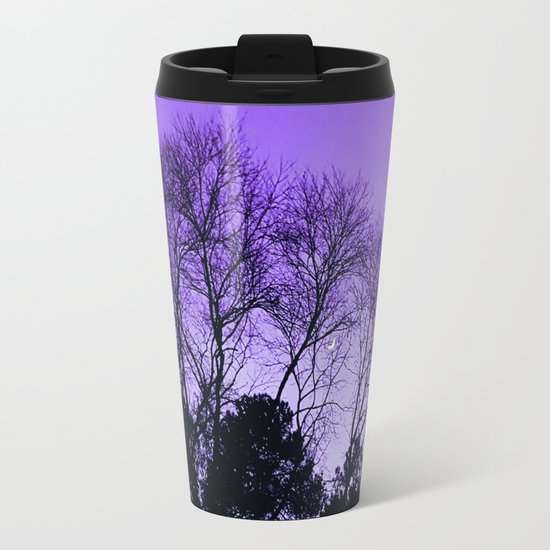 Purple Sunset Metal Travel Mug
