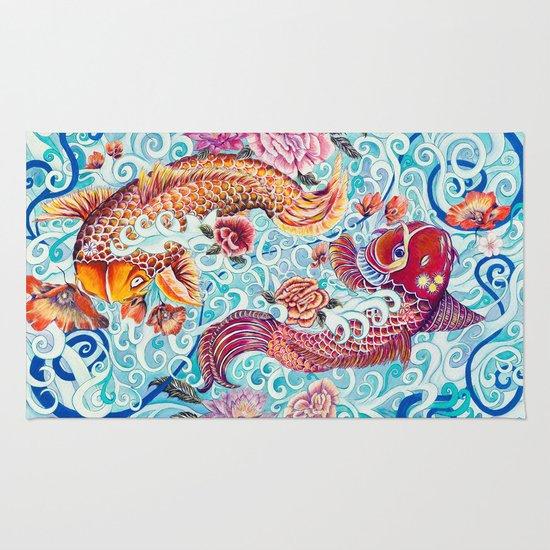 Koi Fish Rug By Art By Risa Oram