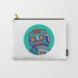 robot machine apocalypse cute mechanoid mechanical toy antena toon illustration cyborg child fiction Carry-All Pouch