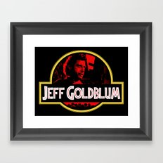 JURASSIC GOLDBLUM Framed Art Print