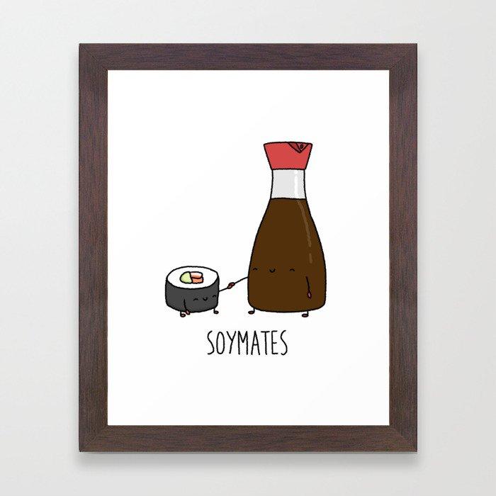 Soymates Framed Art Print
