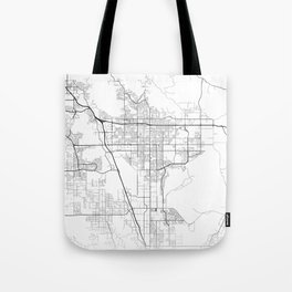 Minimal City Maps - Map Of Moreno Valley, California, United States Tote Bag