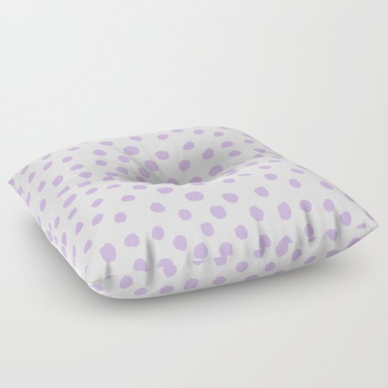 Floor Pillows For Nursery : Dots painted polka dot pattern minimal lavender nursery basic minimalist Floor Pillow by ...
