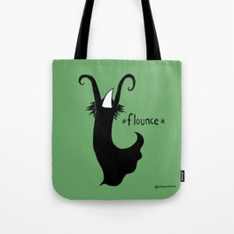 Flounce - green background Tote Bag