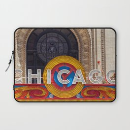 Chicago Neon Sign Laptop Sleeve