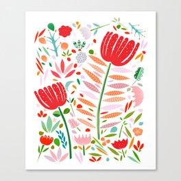 folk floral Canvas Print