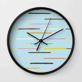 21 Flavors of Pocky - blue Wall Clock