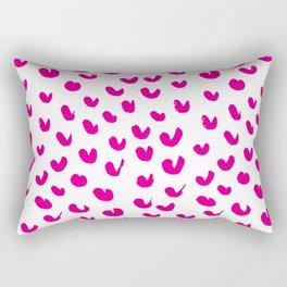 PINK PAW MARKS Rectangular Pillow