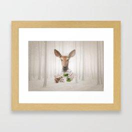 Would you like a cup of tea, my deer ?  Framed Art Print