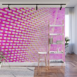 Eye Play in Pink and White Wall Mural