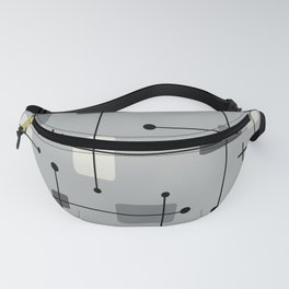 Rounded Rectangles Squares Gray Fanny Pack
