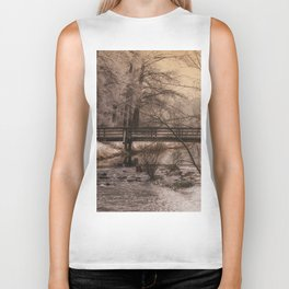 Dream time winter landscape Biker Tank