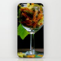 pasta iPhone & iPod Skins featuring Tricolor Pasta by Tanja Riedel
