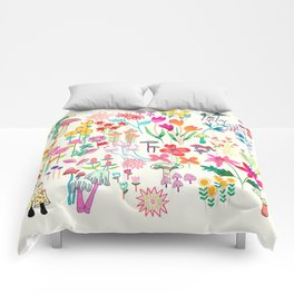 The Odd Floral Garden I Comforters