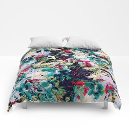 RPE ABSTRACT FLORAL -IV Comforters