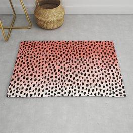 Ombre Dalmatian Spots (coral/black) Rug