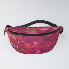 Red Flowers Pattern Photo Fanny Pack