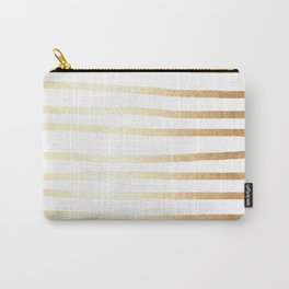 Simply Drawn Stripes Golden Copper Sun Carry-All Pouch