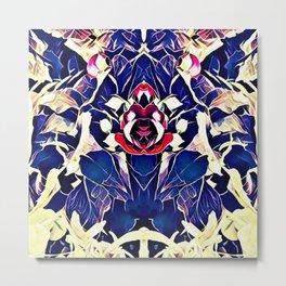 Fractal Floral Metal Print