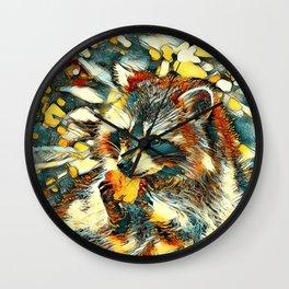 AnimalArt_Raccoon_20170601_by_JAMColorsSpecial Wall Clock