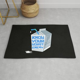 Dairy Free Dairy Allergy Awareness Nemesis Enemy Rug