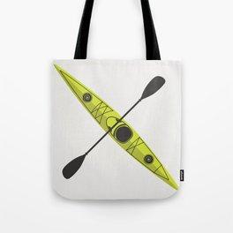 Kayak - Lime Green Tote Bag