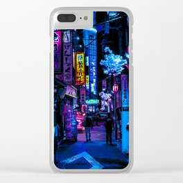 Tokyo's Blade Runner Vibes Clear iPhone Case