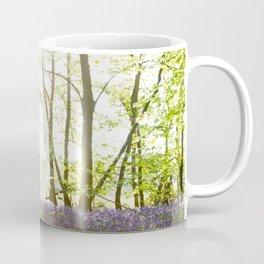 Sunlight Shining on Bluebells in a Woodland Coffee Mug