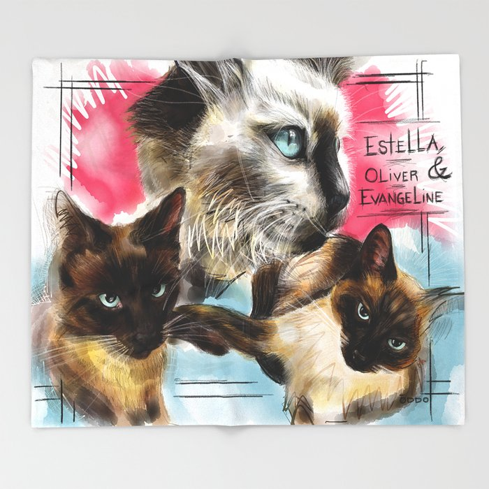 Estella, Oliver & Evangeline Throw Blanket