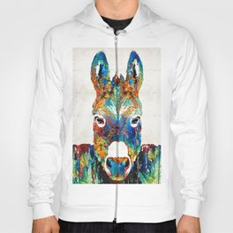 Colorful Donkey Art - Mr. Personality - By Sharon Cummings Hoody