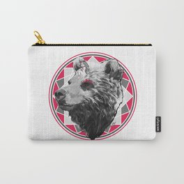 Wild child - Pink Bear Carry-All Pouch