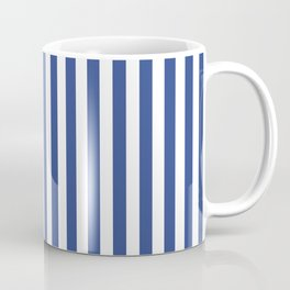 Stripe blue & white vertical Coffee Mug