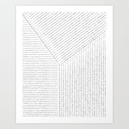 Lines Art Art Print