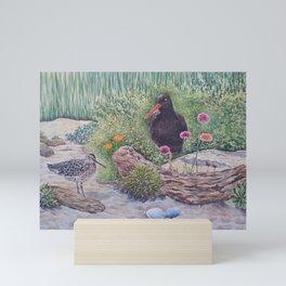 Shorebirds at Monterey Bay Aquarium Mini Art Print
