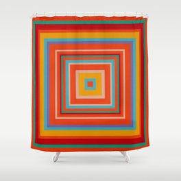 """Blood Orange Fizzle""   Op art Shower Curtain"